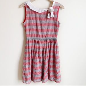 Modcloth Knitted Dove Dress Sleeveless Striped S